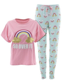 Image of PJ Couture So Over It Pink Pajamas for Women