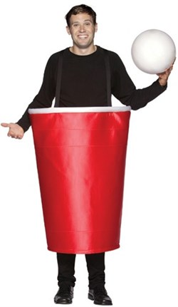 Costume | Adult | Pong | Beer | Bee | Cup | Red