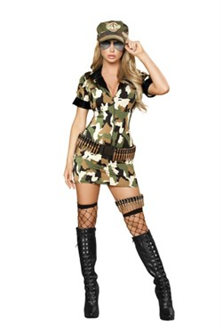 Sexy Army Costume - 3 pc