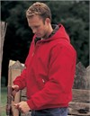 Tri Mountain Men's Tall Sizes Heavyweight Cotton Timberline Hooded Jacket