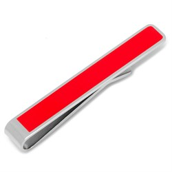 """Be Merry"" Hidden Message Red Tie Bar"
