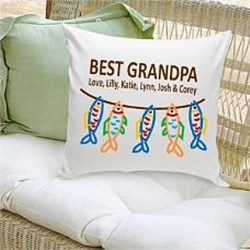 Best Grandpa Personalized Pillow