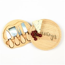 """Cravings"" Gourmet 5pc. Cheese Board Set with Utensils"