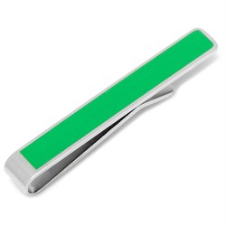 """Deck the Halls"" Hidden Message Green Tie Bar"