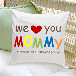 Mommy Love Personalized Pillow