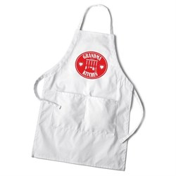 Personalized Women's White Apron - Kitchen Apron