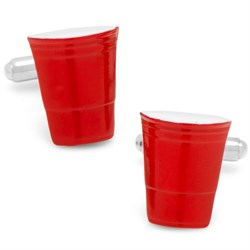 Cufflink   Party   Cup   Red
